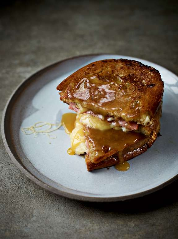 Filthy Dirty Ham and Cheese Toastie