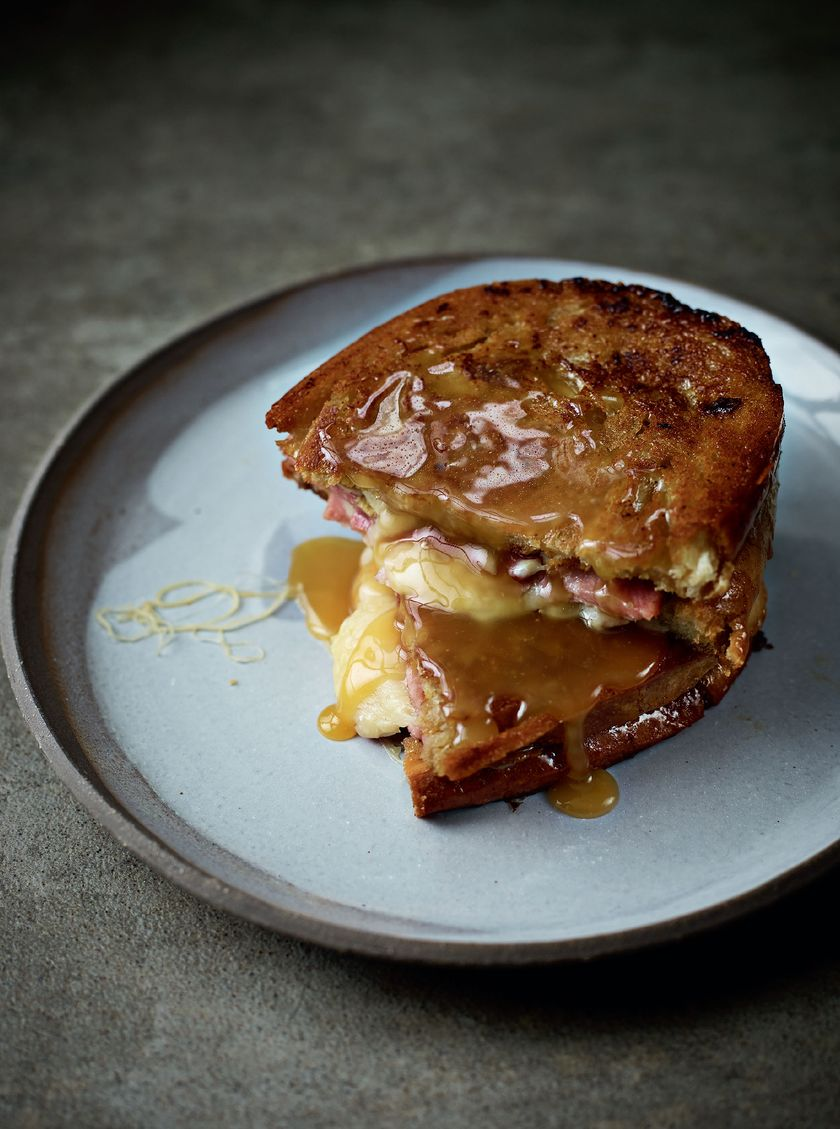 Brilliant Brunch Recipes - Filthy Dirty Ham and Cheese Toastie by Simon Rimmer and Time Lovejoy