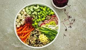 Vegan Sushi Buddha Bowl under 600 calories | Best Bowl Food Recipes
