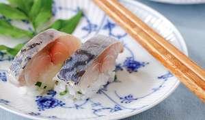 Shime Saba Bo Sushi (Marinated mackerel bo sushi)