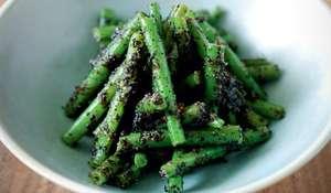 Kuro Goma-ae (Green beans with black sesame sauce)