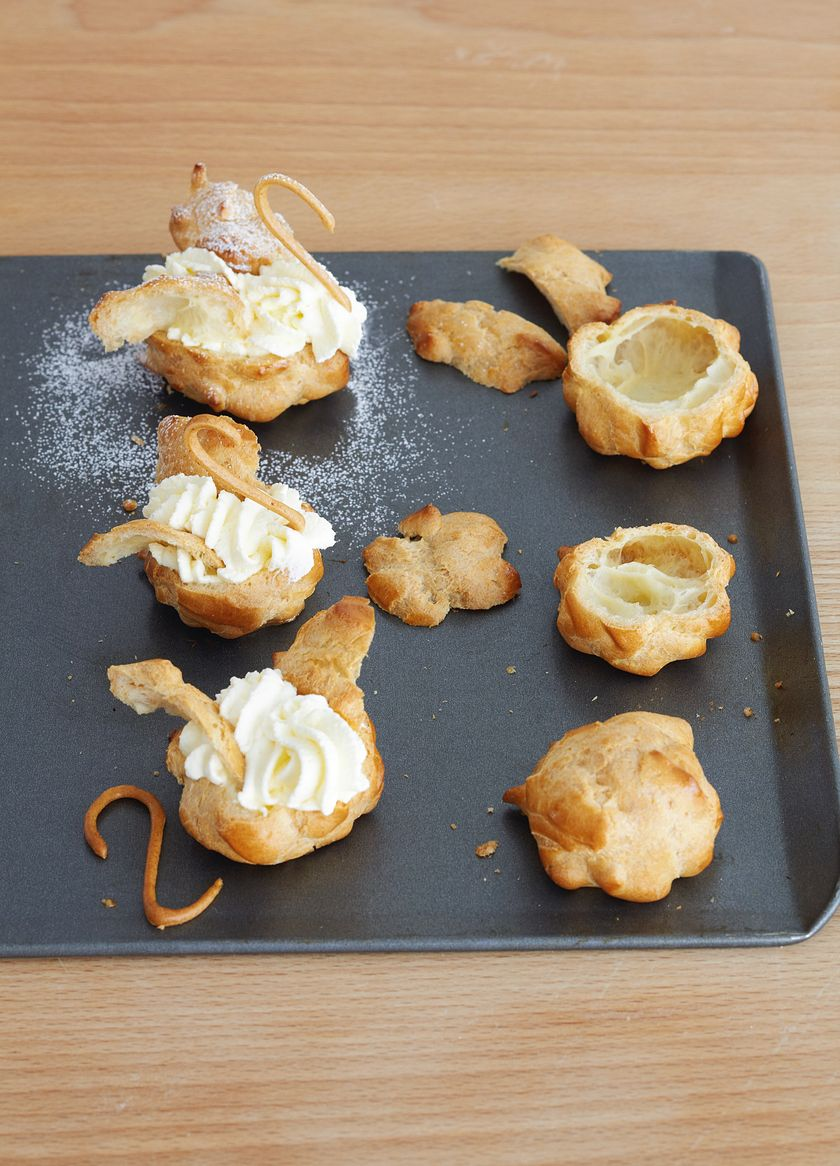 how to make choux pastry swans