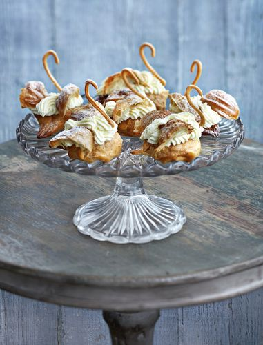 Choux Pastry Swans from Richard Bertinet's Pastry