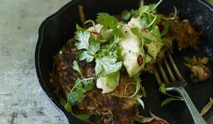Sweet Potato Cakes with Lime and Avocado from The New Vegetarian
