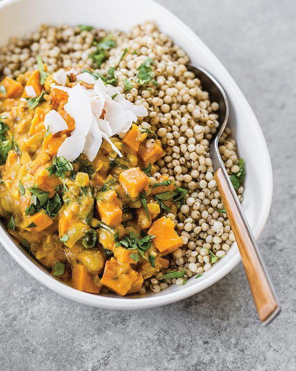 sweet potato vegan chickpea curry