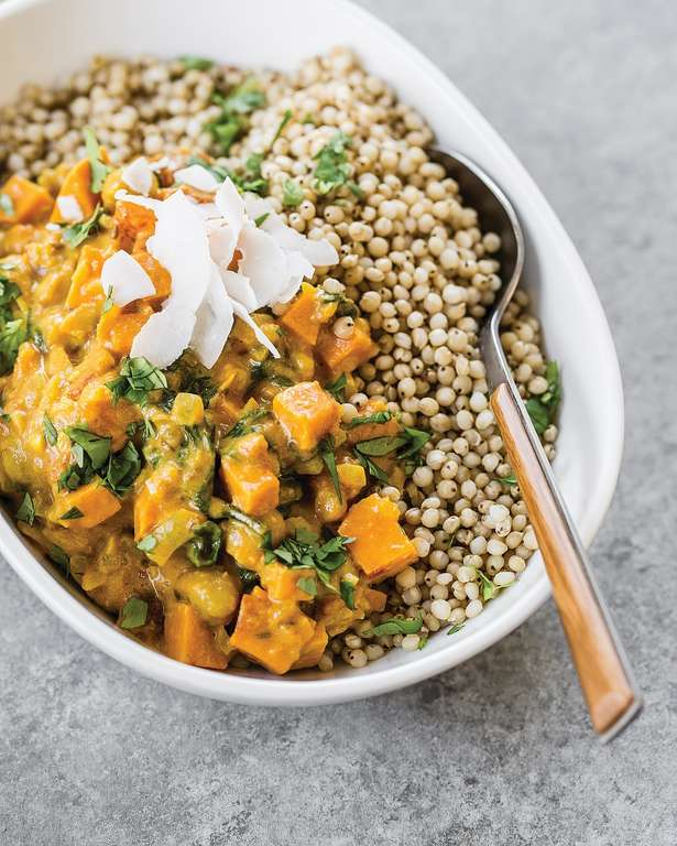 Sweet Potato, Chickpea and Spinach Coconut Curry