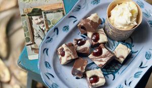 Black Forest Fudge (the creamiest chocolatey fudge)