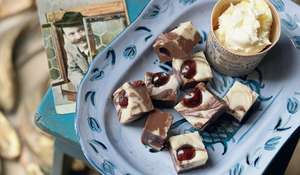 Black Forest Fudge (the creamiest chocolatey fudge)
