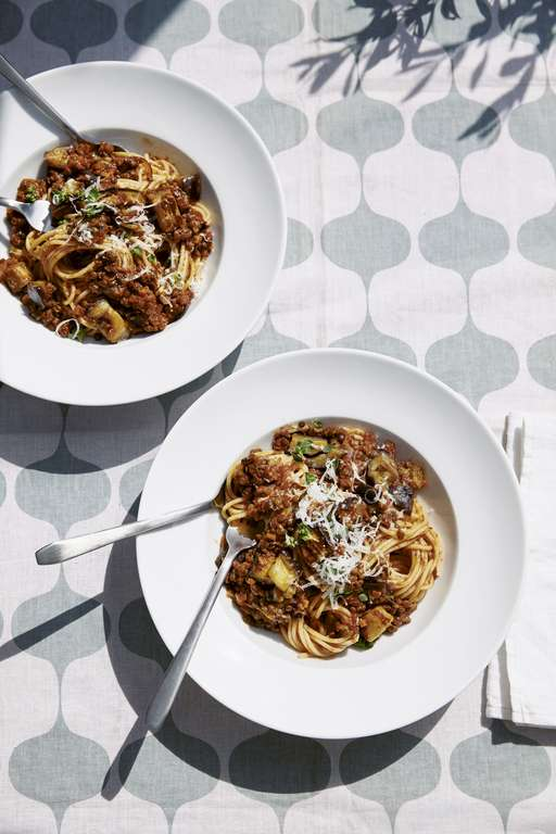 Jessie and Lennie Ware's Aubergine and Puy Lentil Bolognese