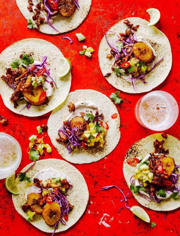 Crispy Jerk Barbecue Tacos