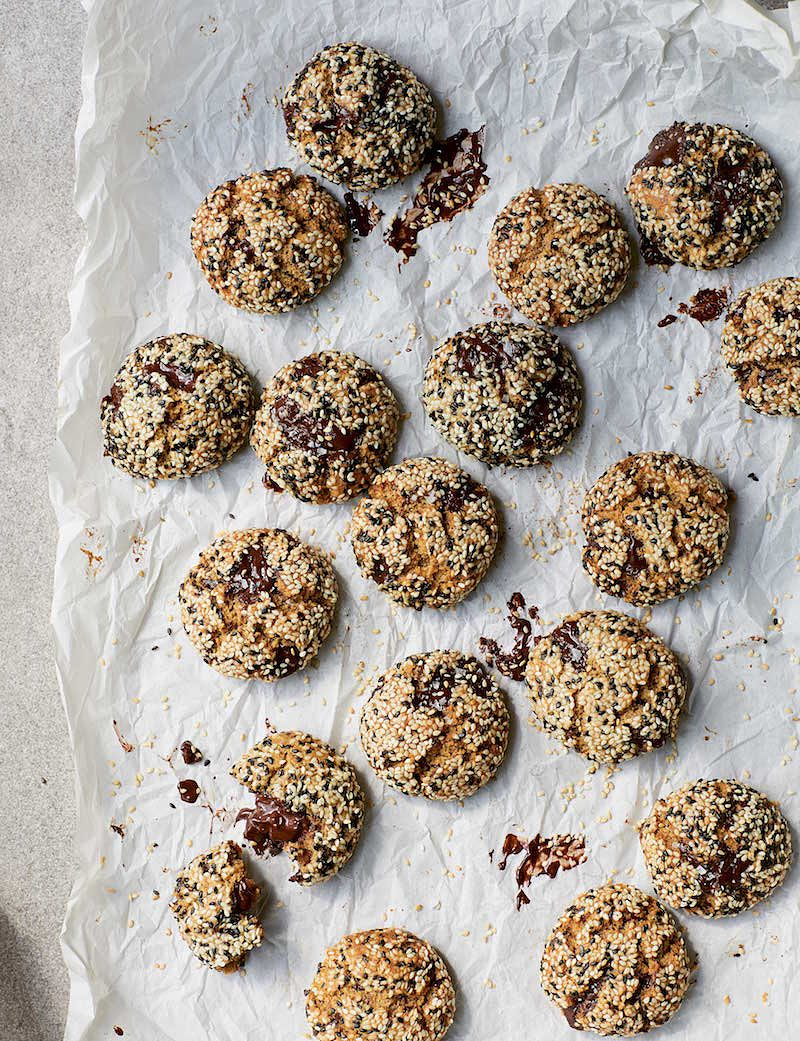 best recipes of 2020 Tahini Chocolate Chip Cookies from Eat Green by Melissa Hemsley