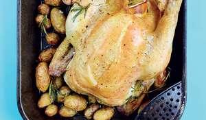 One-tin Roast Chicken | Easy Chicken Recipe