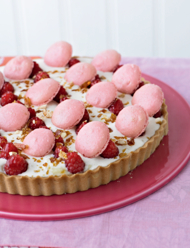Lychee & Raspberry Tart from The Great British Bake Off Showstoppers