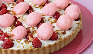 Lychee and Raspberry Tart from The Great British Bake Off Showstoppers