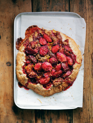 Free-form Hazelnut, Plum & Cinnamon Tart (gluten-free) from The Genius Gluten-free Cookbook