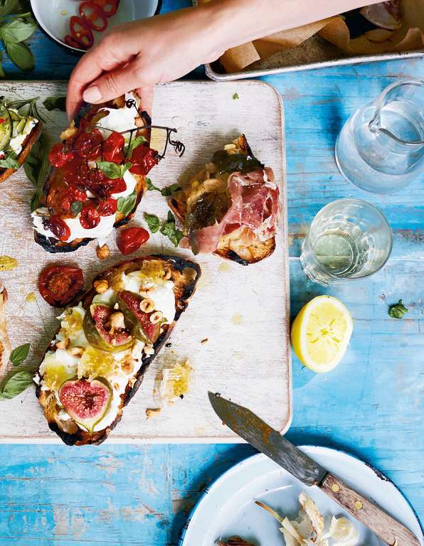 White Bean and Parma Ham Bruschetta