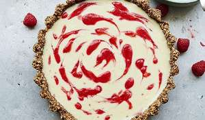 White Chocolate, Cardamom and Raspberry Tart with a Pecan and Hazelnut Base Recipe