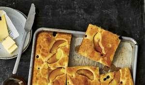 Blueberry-Peach Sheet Pancake Recipe | TASTY
