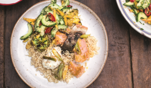 Jamie Oliver's Mango Teriyaki Salmon from Super Food Family Classics