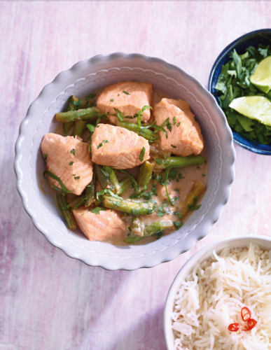 Thai salmon and bean curry from Eat Well for Less