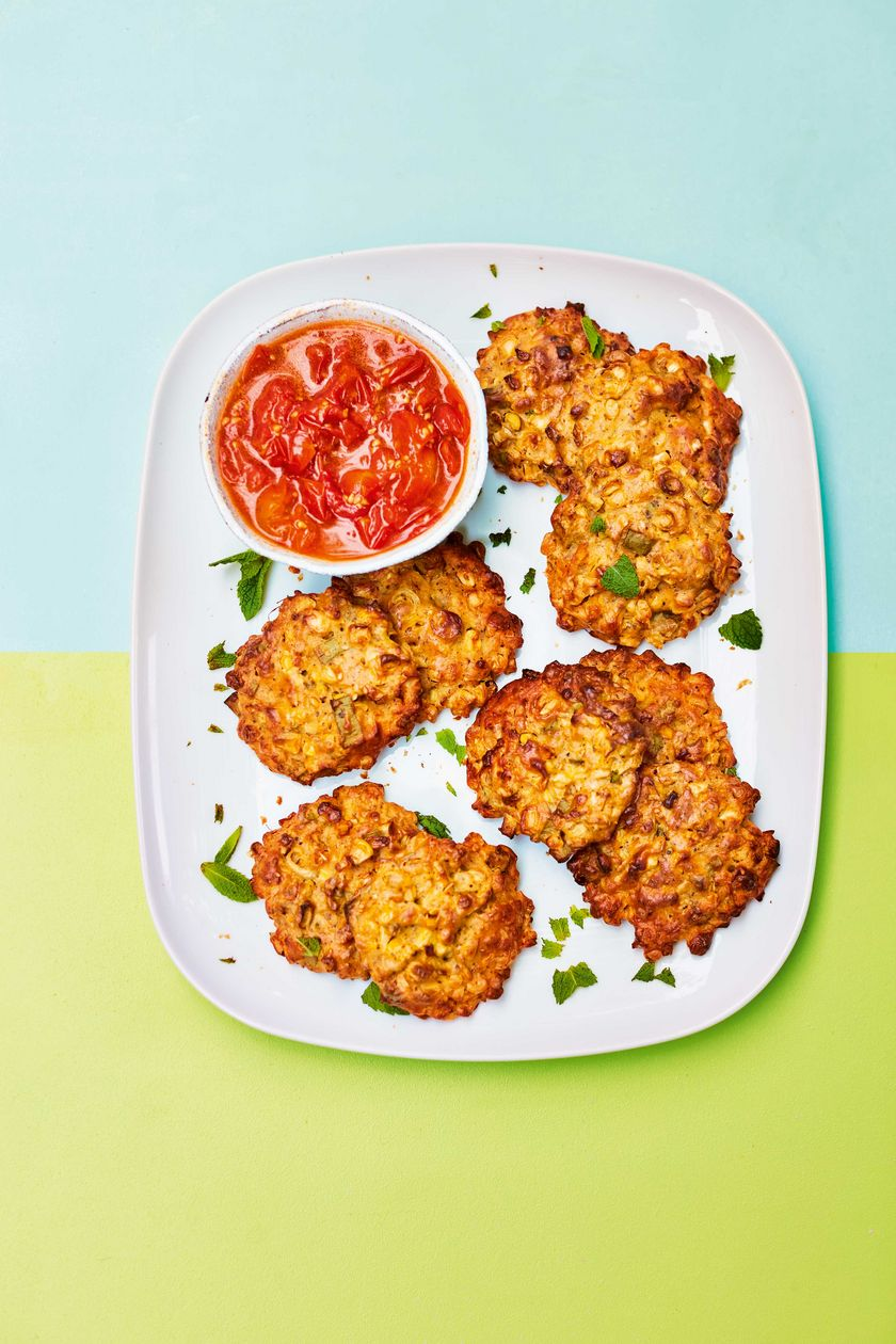 Easy Vegetarian Barbecue Recipe | Sweetcorn Fritters