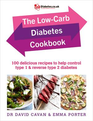 Cover of The Low-Carb Diabetes Cookbook: 100 Delicious Recipes to Help Control Type 1 and Reverse Type 2 Diabetes