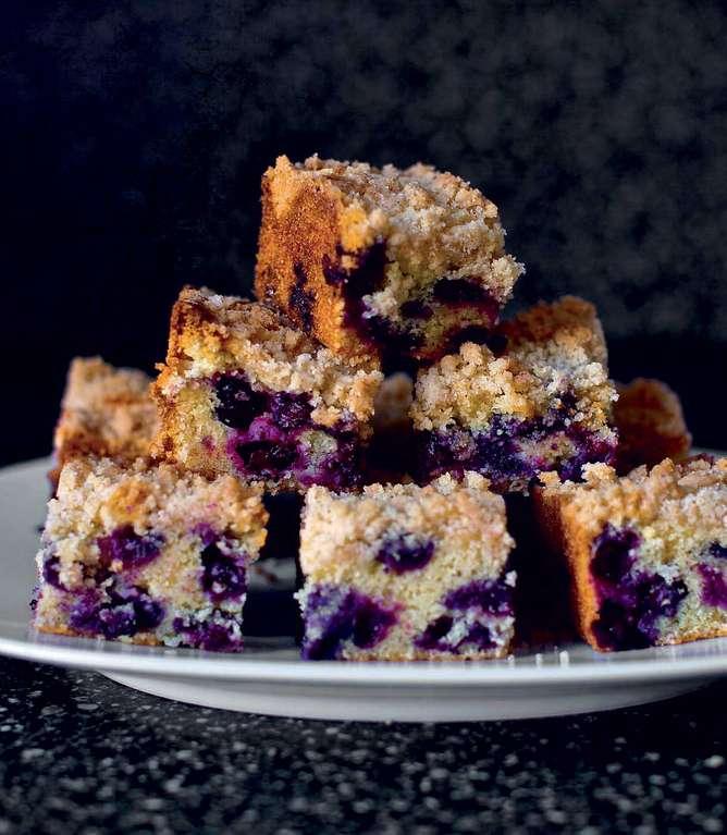 Blueberry Polenta Butter Cake