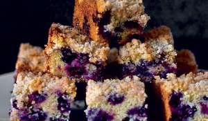Blueberry Polenta Butter Cake | Easy Traybake