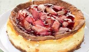 Yorkshire Pink 'Champagne' Rhubarb Cheesecake
