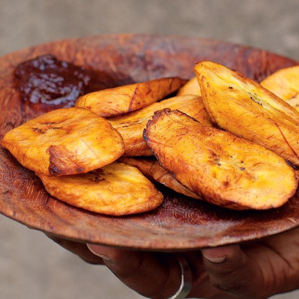 West African Fried Plantain Dodo Vegetarian Side Dish