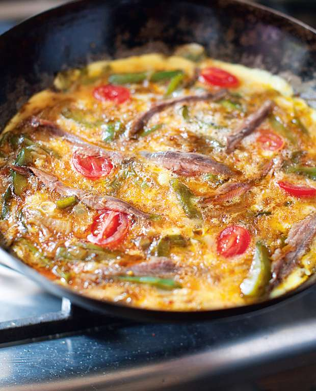 Anchovy Omelette
