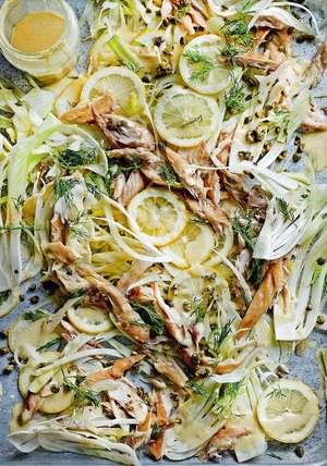 Flaked Mackerel with Lemon and Fennel