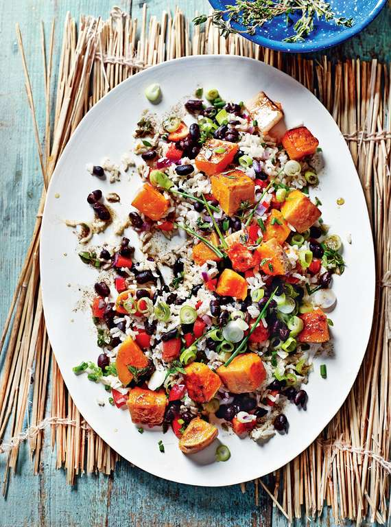 Caribbean Allspice Salad with Pumpkin and Black Beans