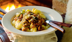 Sausage and Porcini Ragù with Gnocchi