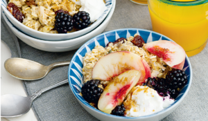 Bircher Muesli with Sugared Peaches