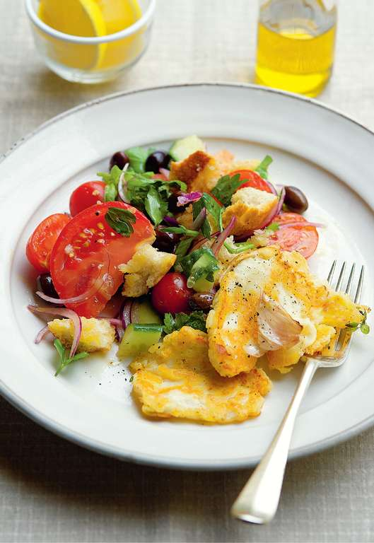 Panzanella with Griddled Halloumi