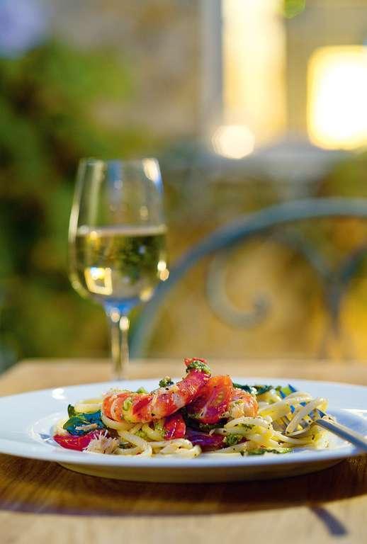 Seafood Linguine with Coriander Pesto