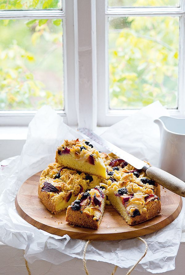 autumn baking any fruit streusel cake the weekend cookbook