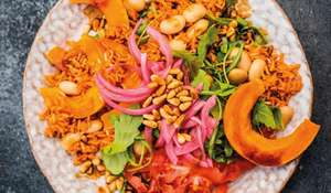 Pumpkin and Red Rice Salad | Happy Pear Vegan Recipe