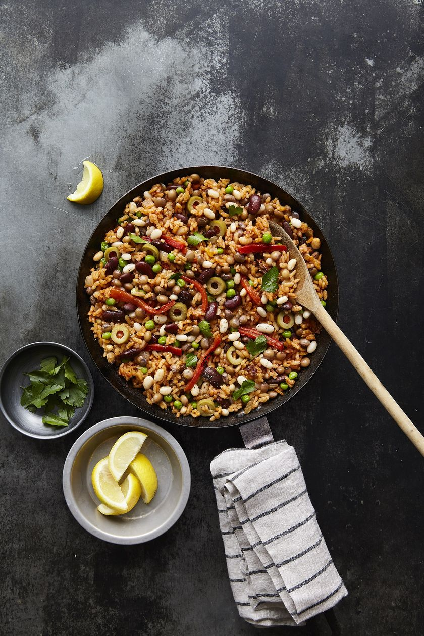 Easy Store Cupboard Bean Recipes | Three Bean Paella
