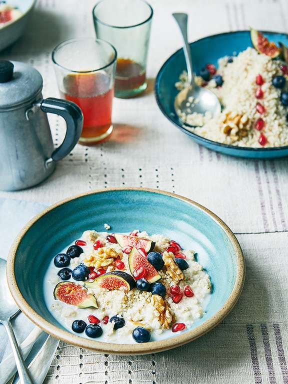 Cherine Mallah's Barley Porridge with Fruit and Nuts (Belboula)