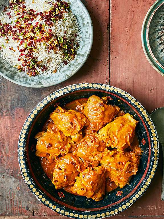 Sanna Mirza's Persian Chicken with Barberry Rice (Zereshk Polo ba Morgh)