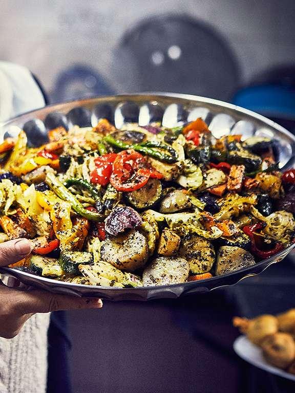 Ahlam Saeid's Rainbow Roasted Vegetables
