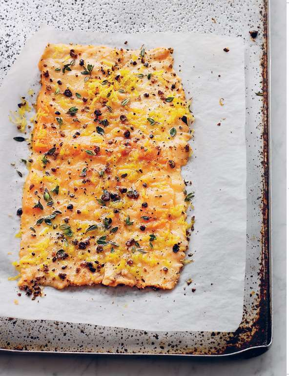 Salmon Baked with Juniper and Lemon Thyme