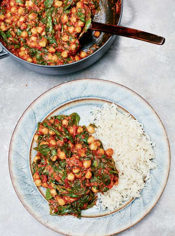 Meera Sodha's Spinach, Tomato and Chickpea Curry