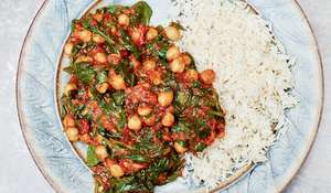 Meera Sodha's Spinach, Tomato and Chickpea Vegetarian Curry Recipe