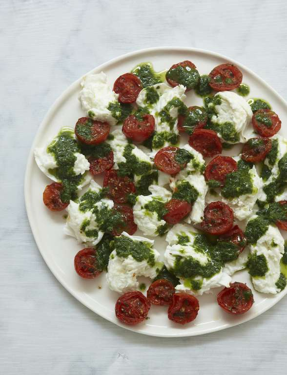 Tomatoes, Mozzarella and Basil, My Way