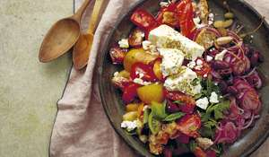 Rusk and Tomato Salad | Greek Salad Recipe
