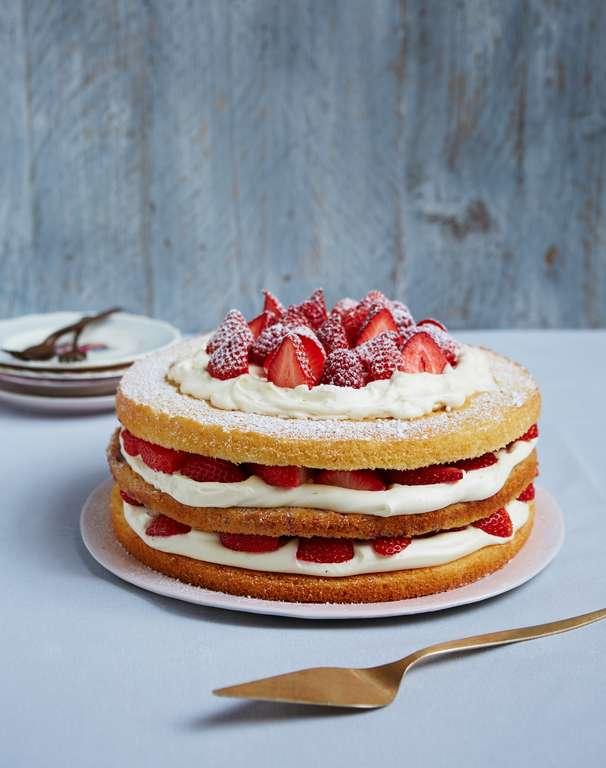 Triple-layer berry Victoria sponge