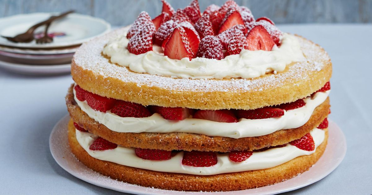 Chocolate Sponge Cake Recipe Jamie Oliver: Triple-layer Berry Victoria Sponge
